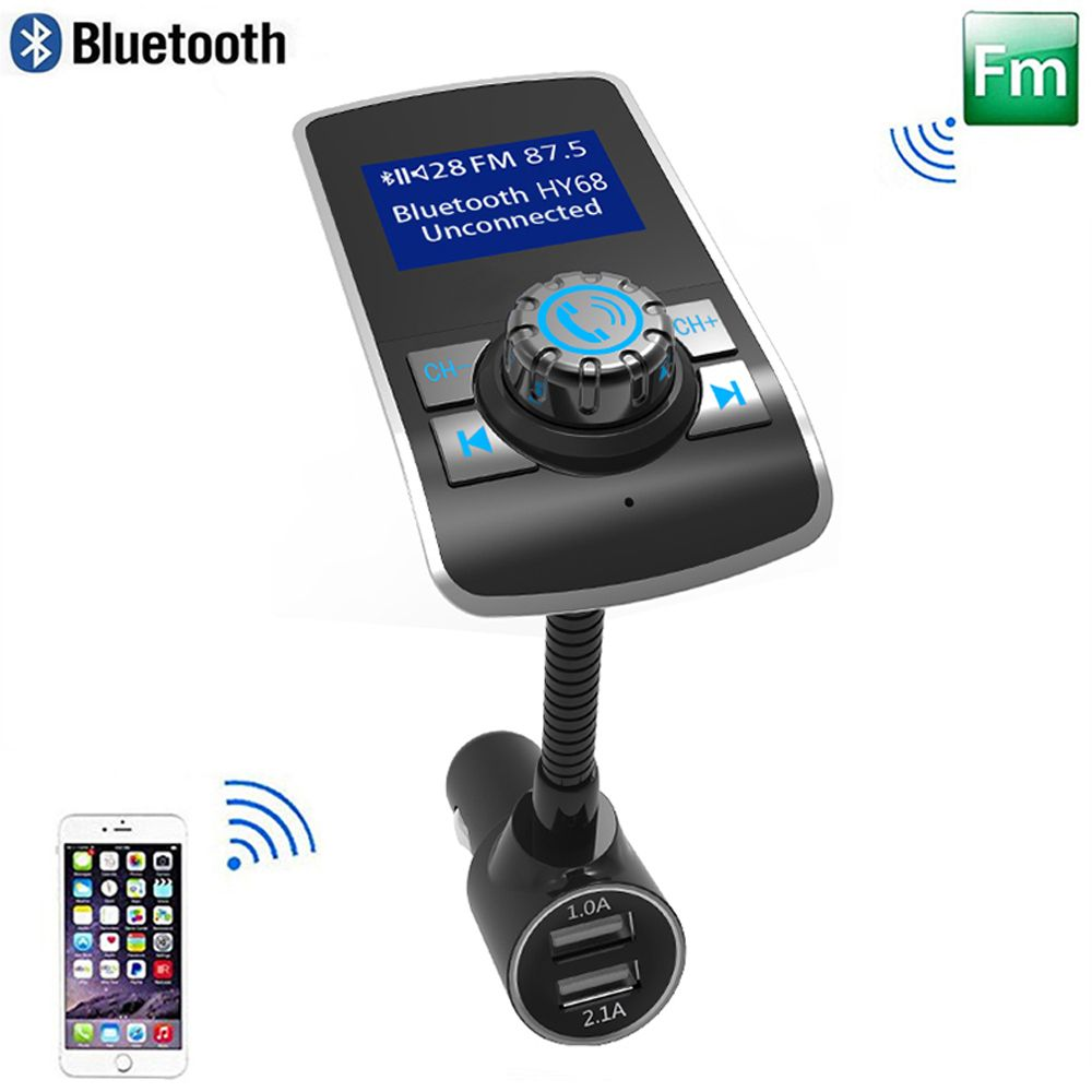 Large Display Bluetooth Car Music Player Handsfree FM Transmission TF Card USB