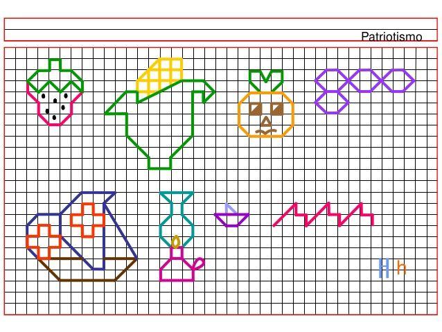 Libreta De Dibujo Con Dibujos Infant: Dibujos En Cuadriculas C02
