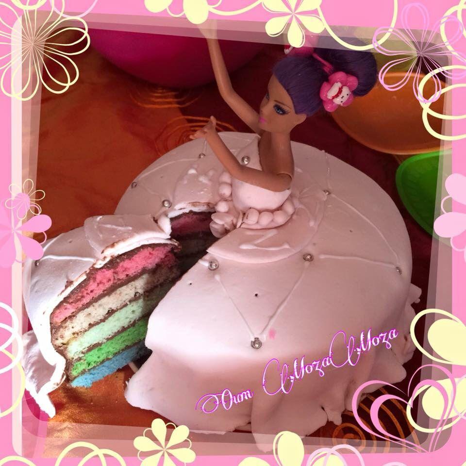 gateau princesse rainbow cake et pate sucre mon premier gateau pas - Gateau Anniversaire Fille 8 Ans