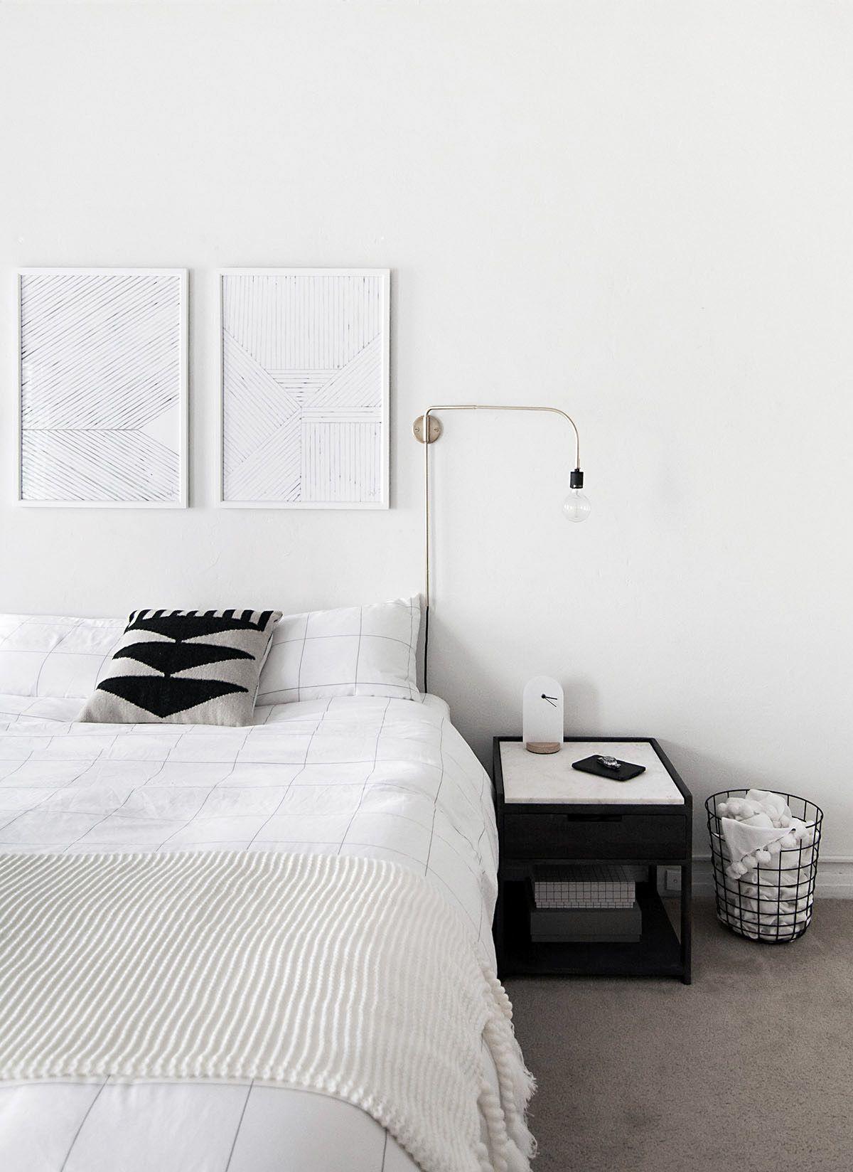 How To Achieve A Minimal Scandinavian Bedroom Homey Oh My Minimalist Bedroom Design Minimalist Bedroom Decor Bedroom Design