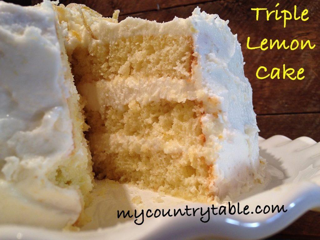 Triple Lemon Cake Recipe Pinterest Lemon Extract Lemon