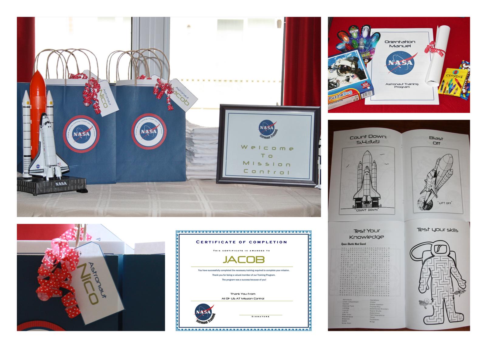 Nasa Astronaut Training Printable Favor Bags   Party Ideas ...