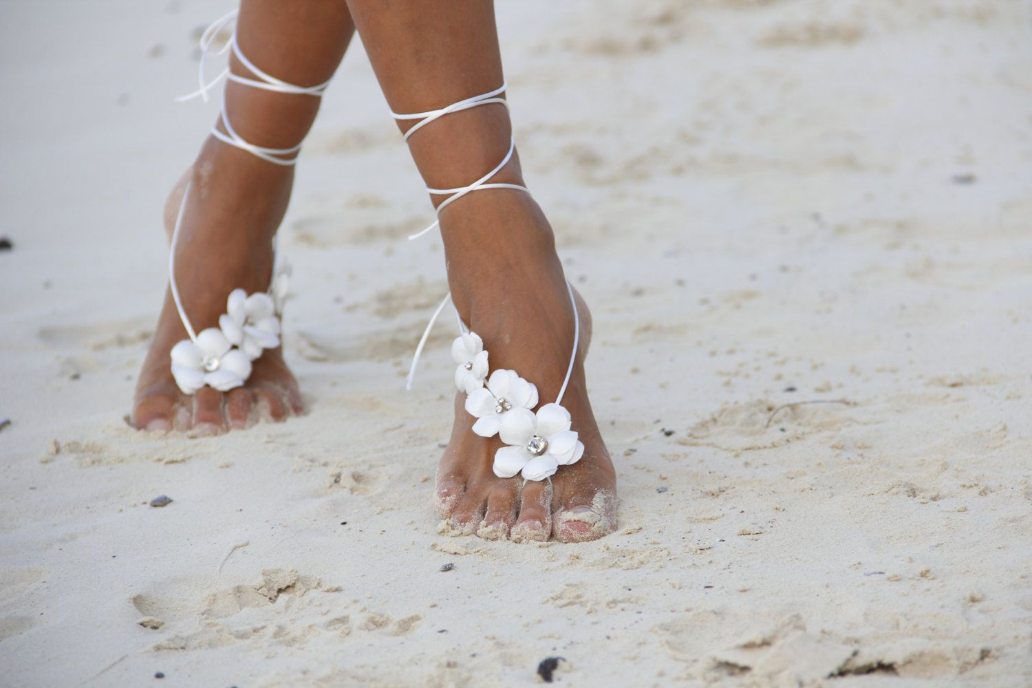 Spring flowers  beach wedding barefoot sandals, bangle, wedding anklet,nude shoes by fulyas on Etsy https://www.etsy.com/listing/123219914/spring-flowers-beach-wedding-barefoot