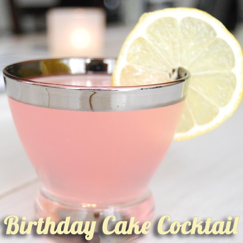 Cocktail Birthday Cake