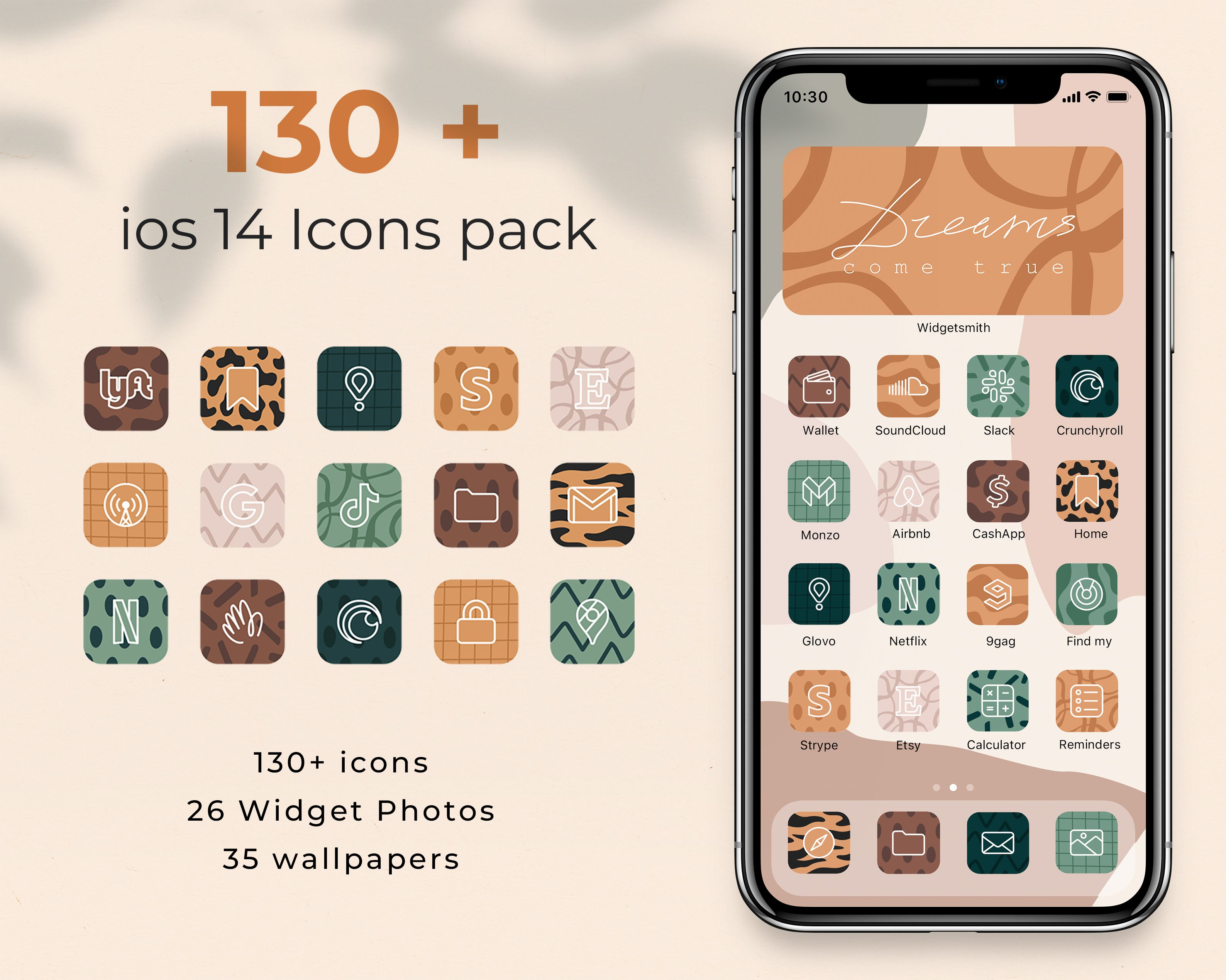 Ios 14 Safari Icons Cover 135 Digital App Icons Template Pack For Iphone And Ipad Big Animal Print Homescreen Icons Leopard Tiger In 2021 Homescreen App Covers App Icon