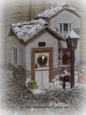 Como hacer una casita navide a con cajas de leche buscar - Casitas de navidad ...