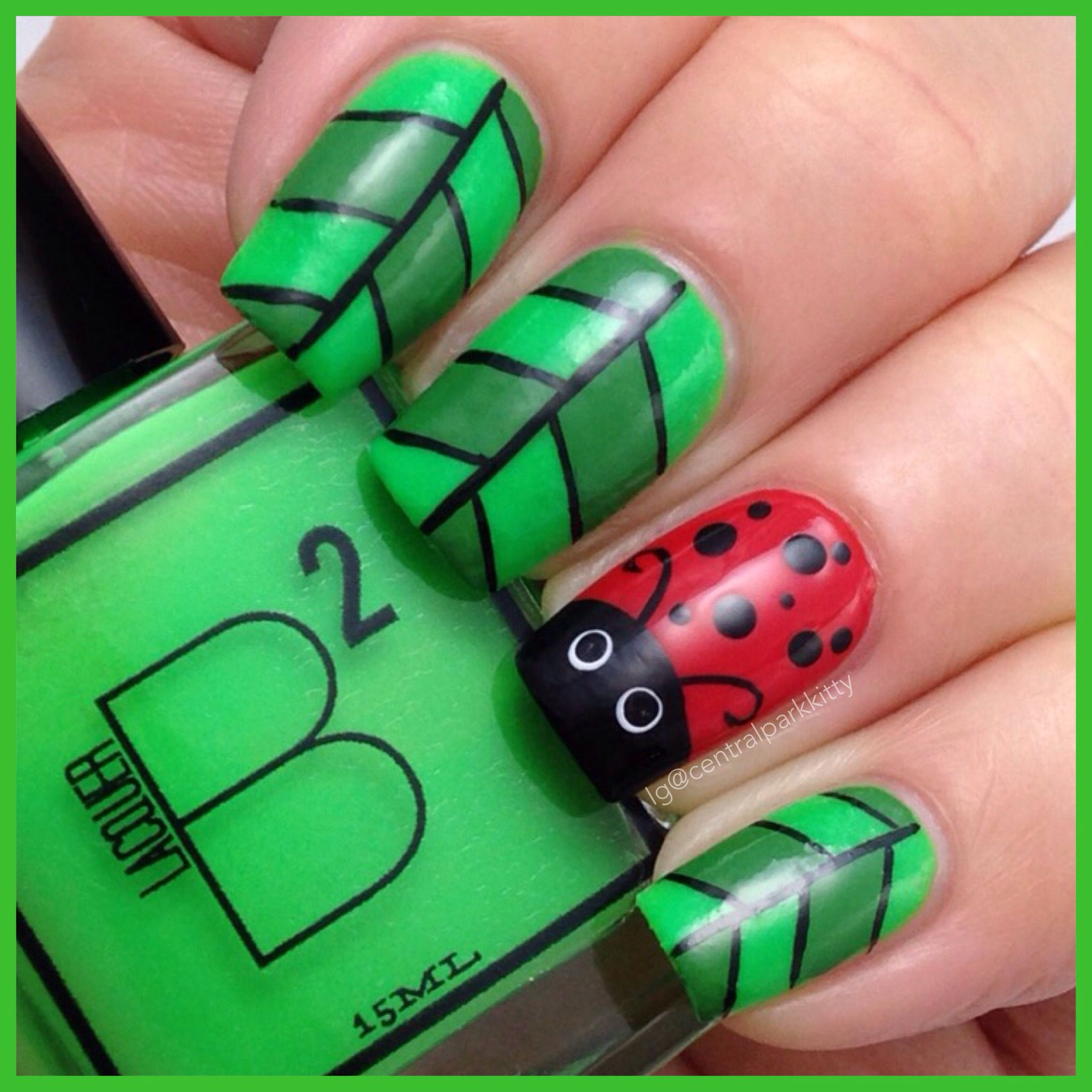 Ladybug nails | ig@centralparkkitty | Claws | Pinterest