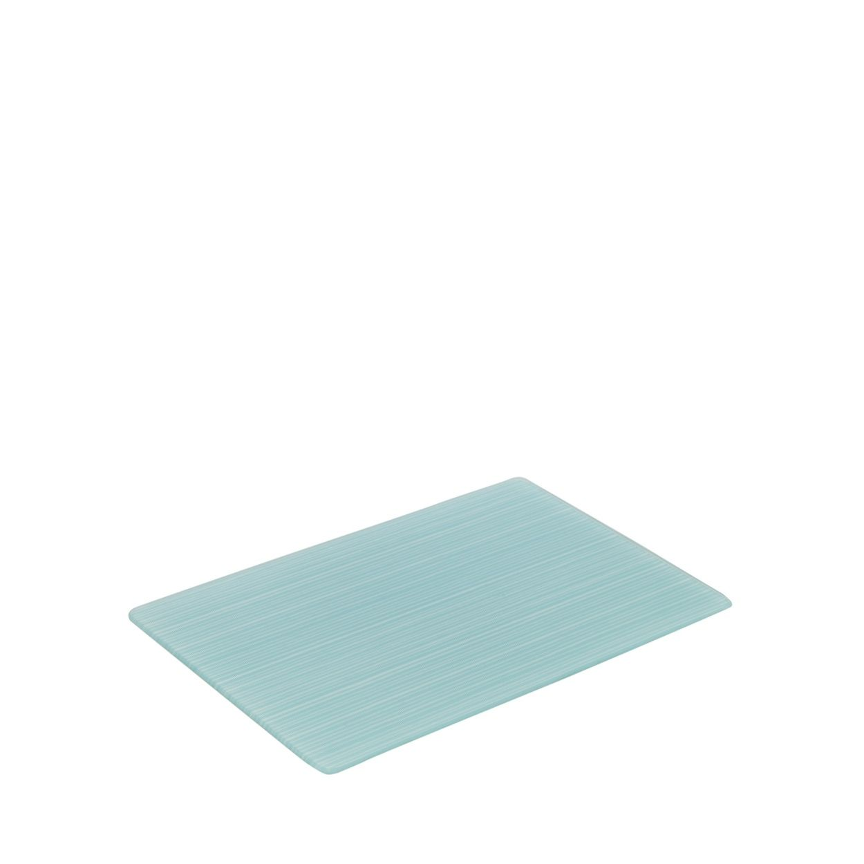 Home Collection Basics Small glass teal striped worktop saver- at ...