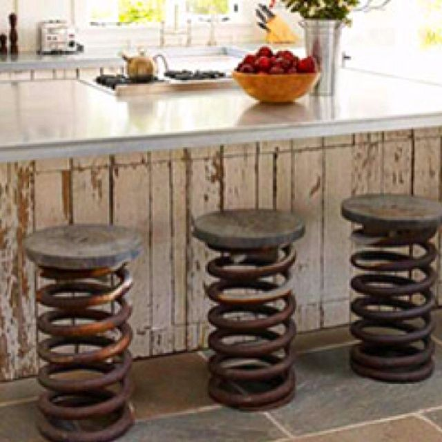 Coil Spring Bar Stools   Google Search | INDUSTRIAL DESIGN (MAN CAVE) Board  # 6 | Pinterest | Bar Stool, Stools And French Farmhouse
