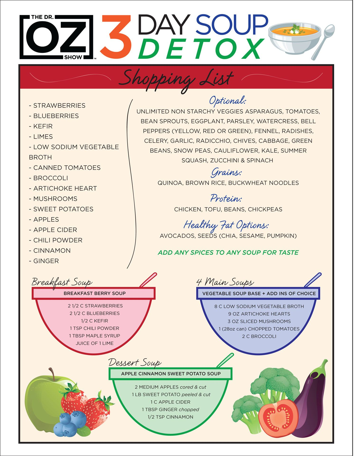 Dr Oz S 3 Day Souping Detox One Sheet The Show
