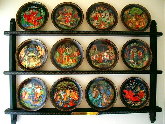 Complete Set of Russian Legends Collector Plates with & Complete Set of Russian Legends Collector Plates with Designated ...