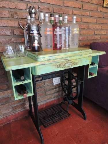 Mesa m quina de coser restaurada home cooking int design and garden pinterest singers - Mesa maquina coser singer ...