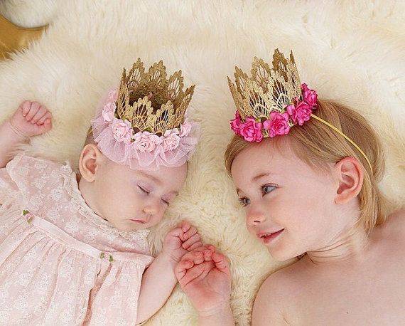 ORIGINAL ballerina flower lace crown headband ||Easter Spring Birthday||pink or lavender| Gold or Silver|| any age #crownheadband