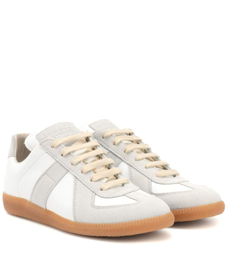 Outlet Cost Replica Leather And Mesh Sneakers Maison Martin Margiela Sale Comfortable ZOgSOM