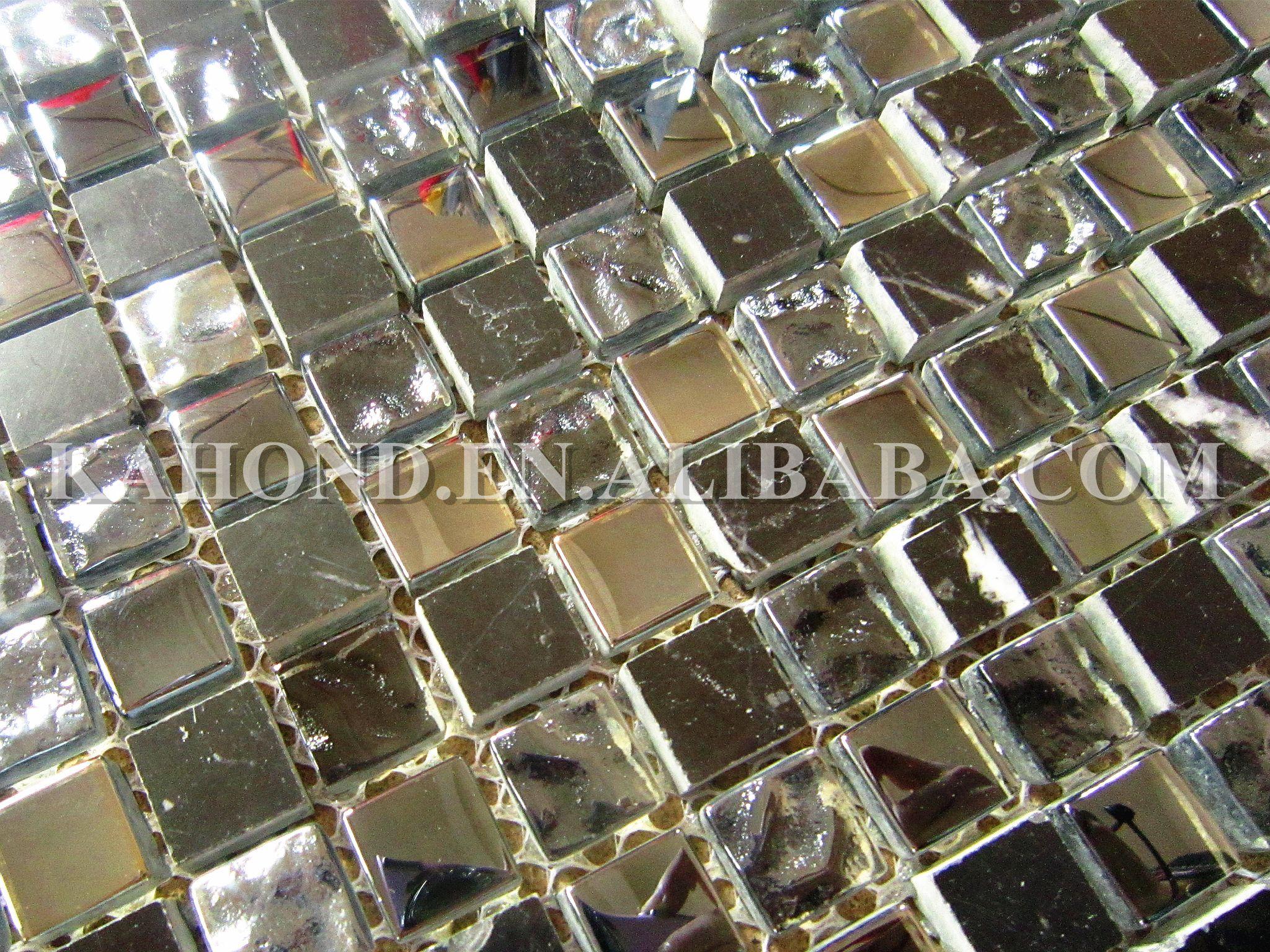 5 8 X 5 8 Black Crystal Glass And Nero Marquina Marble Mix Tumbled Mosaic Tiles Mosaic Glass Mosaic Tiles Glass Mosaic Tiles