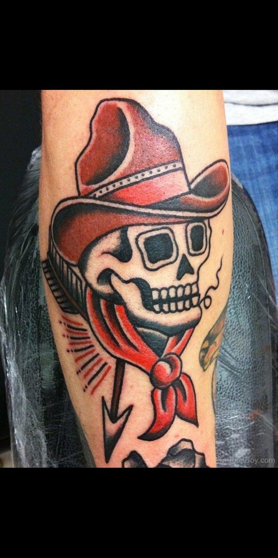 Traditional Dead Cowboy Tattoo Cowboy Tattoos Traditional Tattoo Old School Tattoo