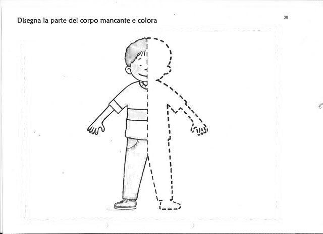 Corpo Bambino Da Colorare: Immagini Corpo Umano Per Bambini Da Stampare PK95