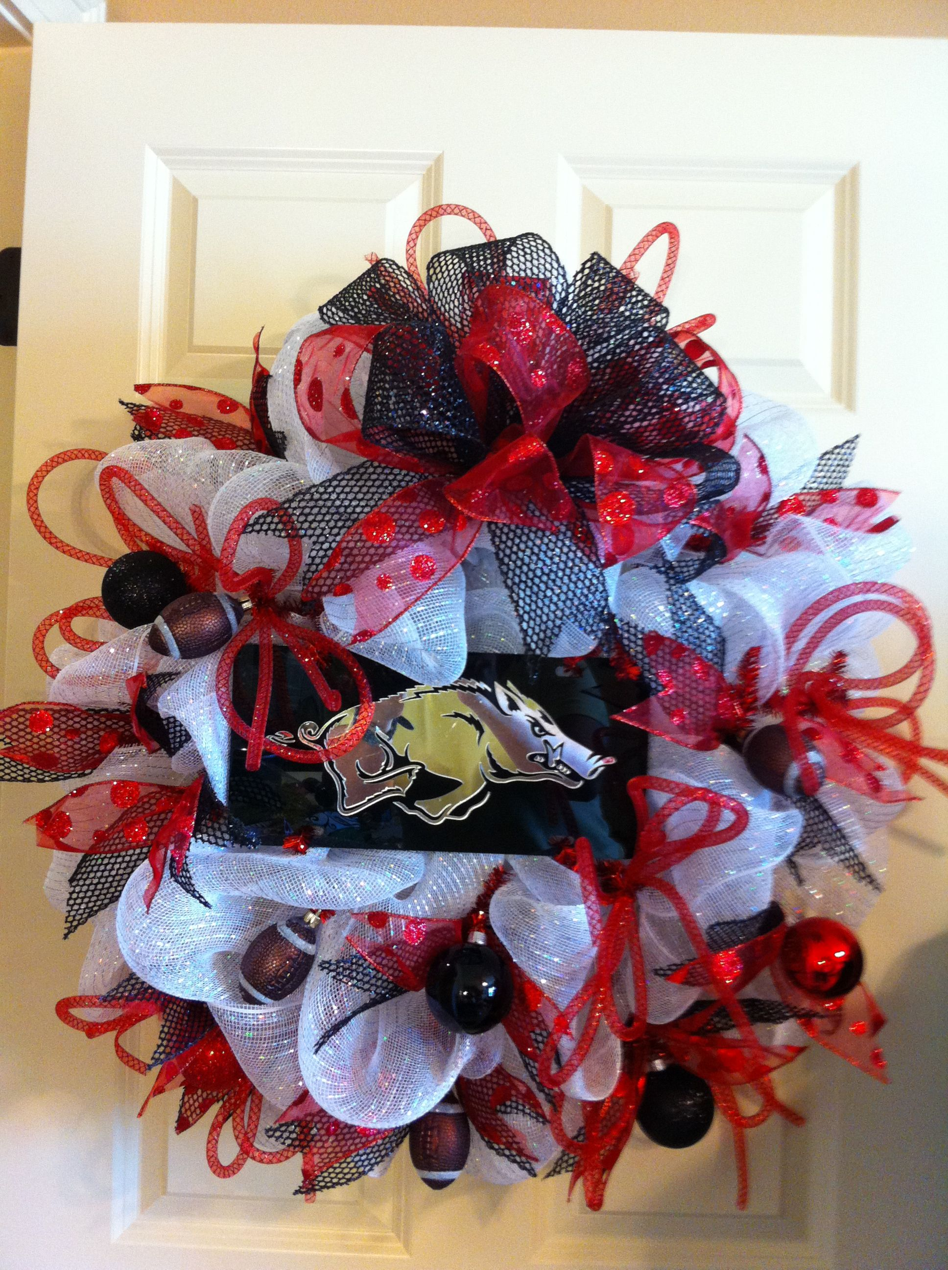 wreath of diy wreaths specialdirectory net fresh decor collection football razorback razorbacks luxury arkansas