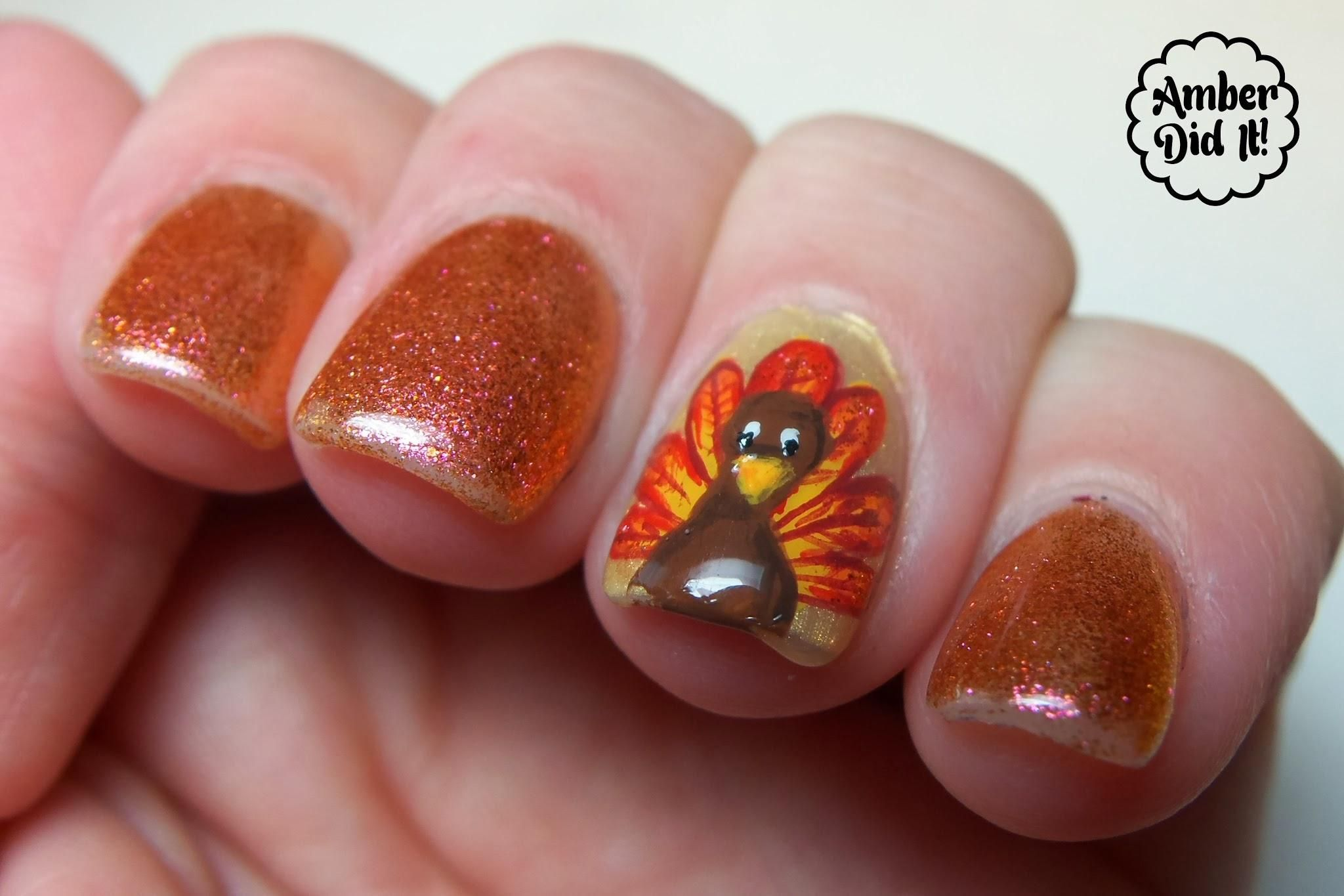 Easy Thanksgiving Nail Designs ... | Nail Designs | Pinterest ...