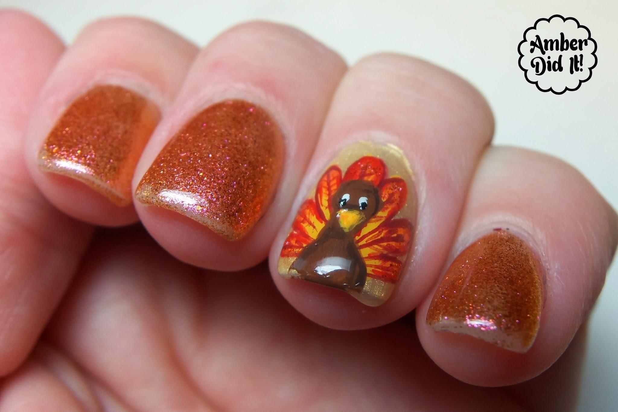 Easy Thanksgiving Nail Designs ... | Nails | Pinterest ...
