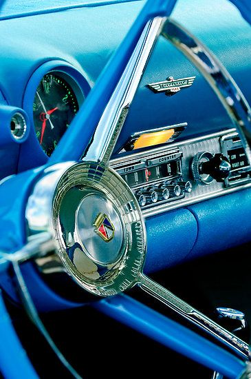 1956 Ford Thunderbird Steering Wheel and Emblem by Jill Reger