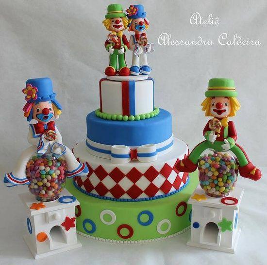 torta circo y payasos