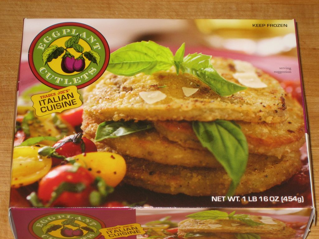 Eggplant cutlets from Trader Joe\'s....yummy plain...I imagine layers ...