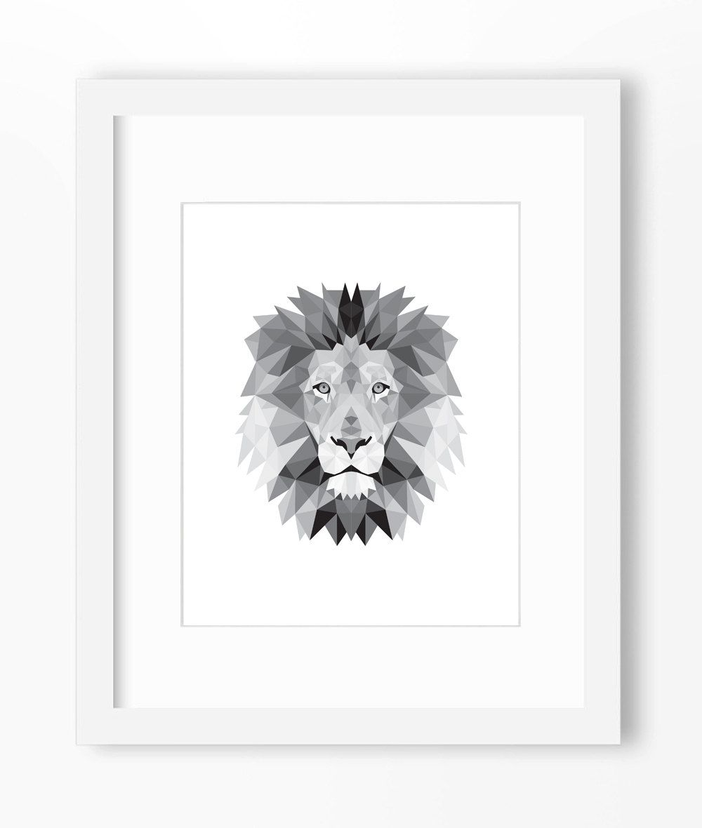 Origami Lion Drawing