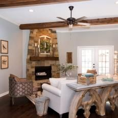 After: Wood and Stone - Fixer Upper Inspo