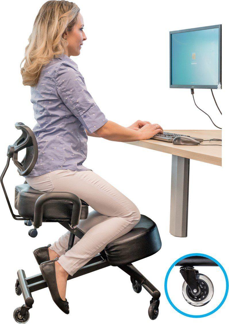Sleekform Ergonomic Kneeling Chair With Backrest And