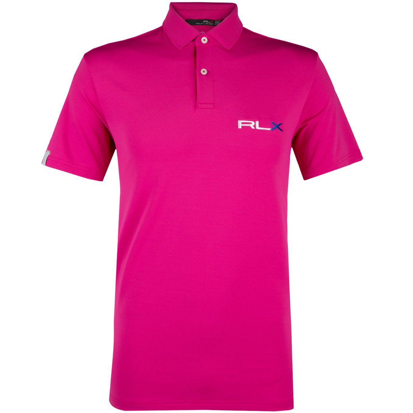 Rlx Ralph Lauren Airflow Jersey Magenta Polo Shirt Trendygolfusa