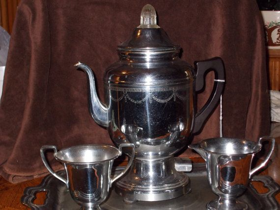 Hey, I found this really awesome Etsy listing at https://www.etsy.com/listing/163120290/vintage-chrome-coffee-service-set