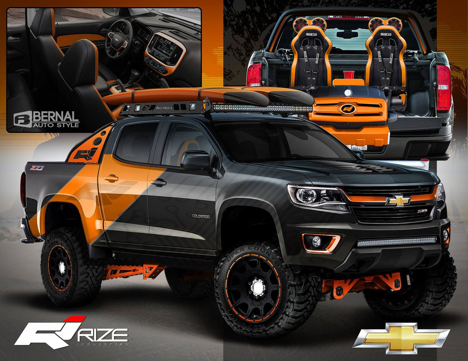Rize Industries 2015 Chevy Colorado Sema Proposal Matt Bernal