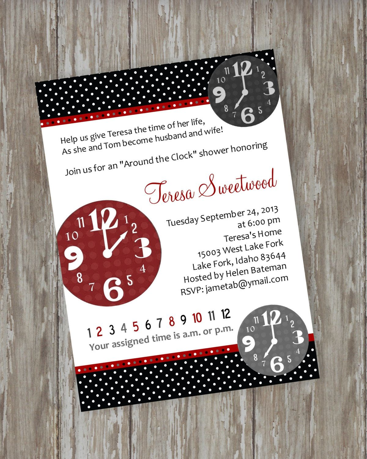 Bridal/Wedding Shower invitations   Around by ItsAllAboutTheCards, $15.00