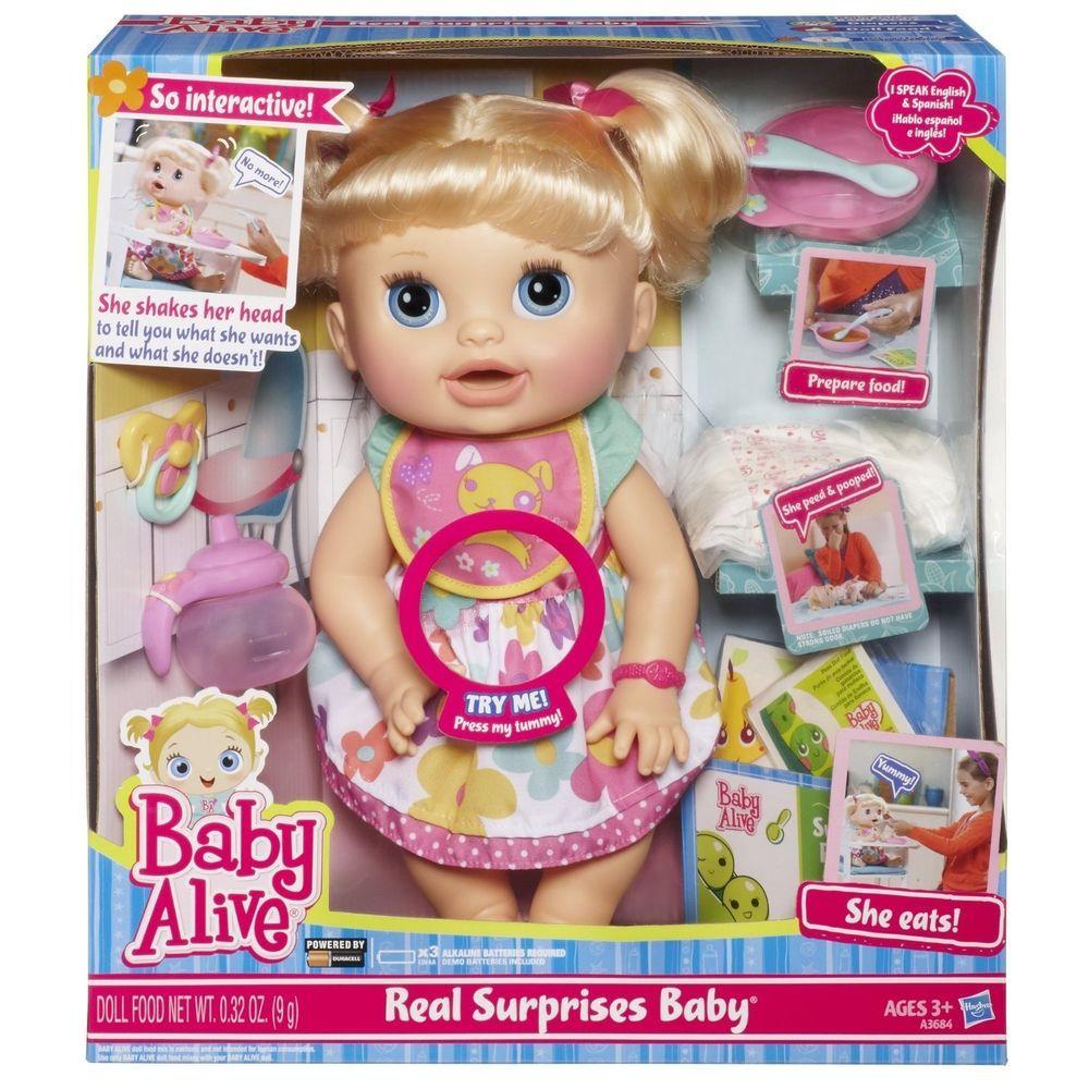 Hasbro Baby Alive Blonde Hair Blue Eye Real Surprise
