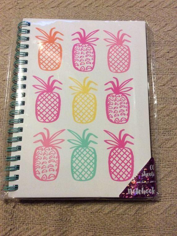 Target Dollar Spot Pineapples Spiral Notebook | eBay