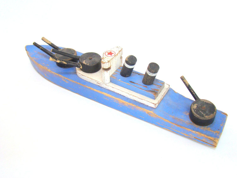 vintage shabby wooden toy ferry boat 21 00 via etsy baby