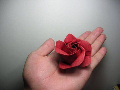 Photo of Origami Rose Instructions (Kawasaki rose variation)