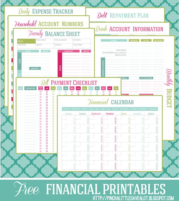 Free Financial Printable Planner  Money Management Free Money