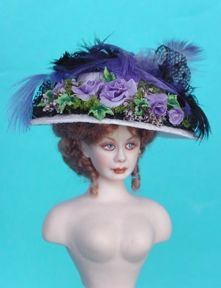 how to: Victorian ladies hat #dollvictoriandressstyles