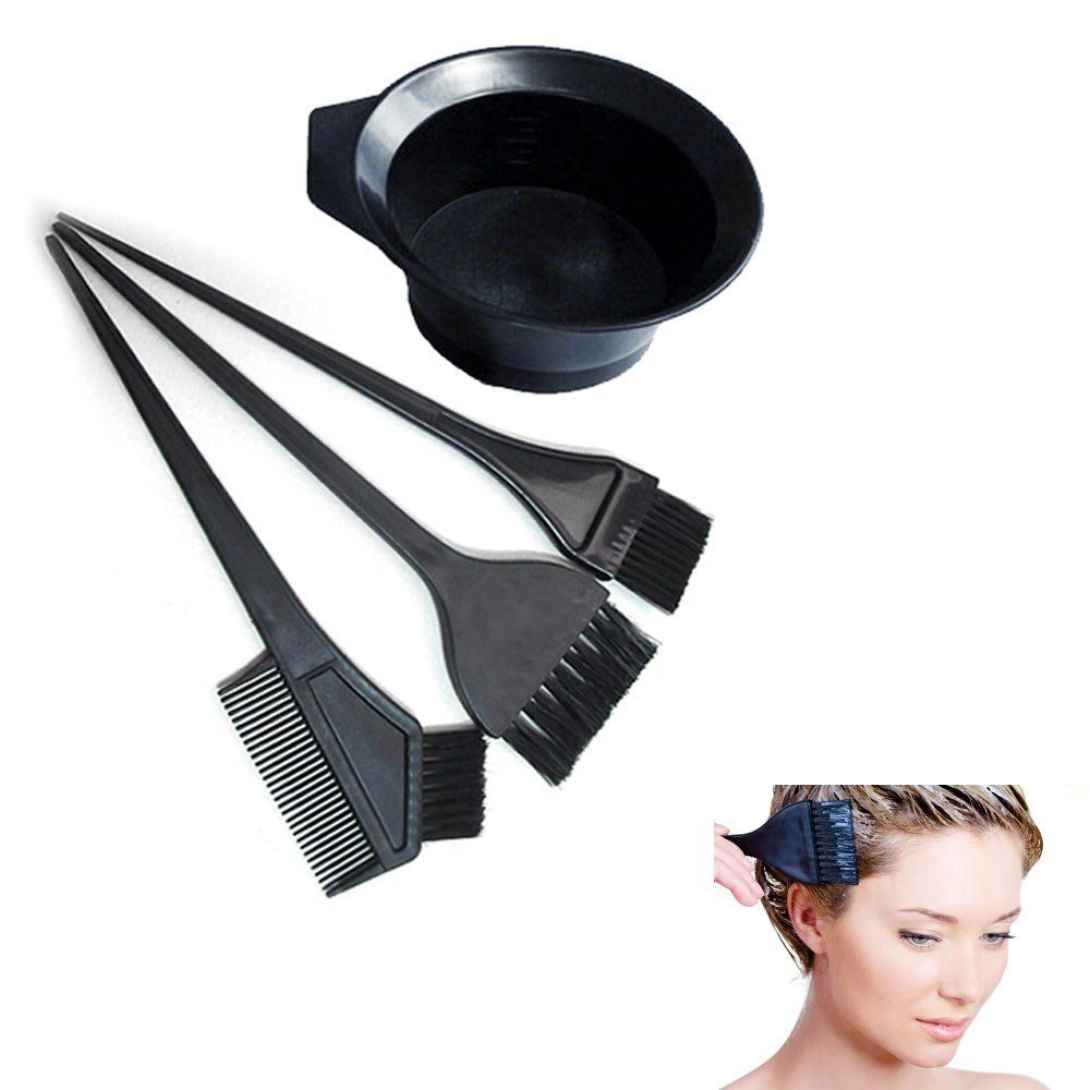 Salon Hair Coloring Dyeing Kit Dye Brush Comb Bowl Tint Tool Kit ...