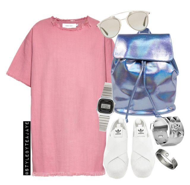 """Untitled #2152"" by stylebyteajaye ❤ liked on Polyvore featuring moda, Hermès, Marques'Almeida, adidas, Casio, Christian Dior e Cartier"