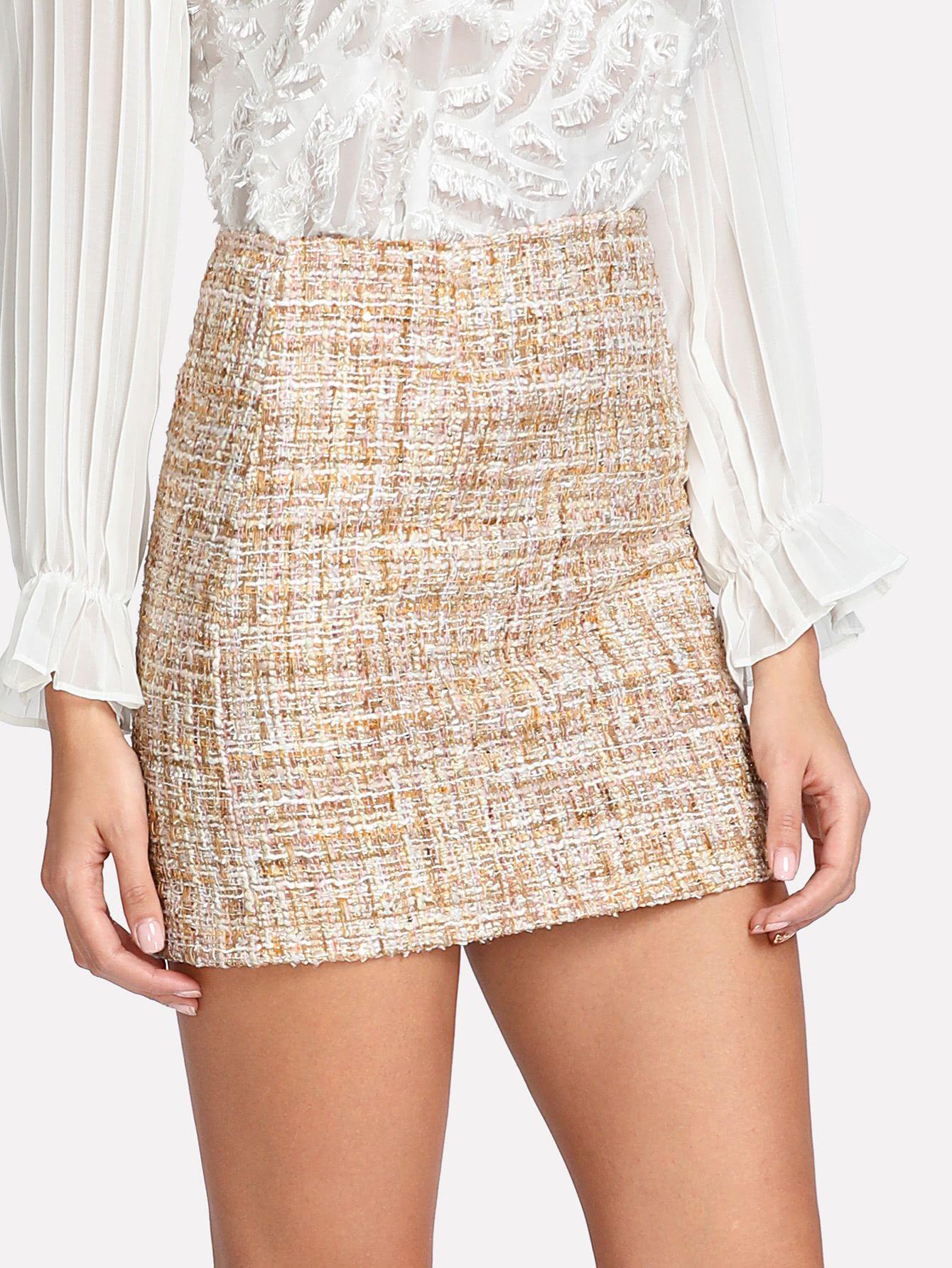 Space Dye Tweed Skirt | My Styles | Pinterest | Moda, Tweed y Moda ...