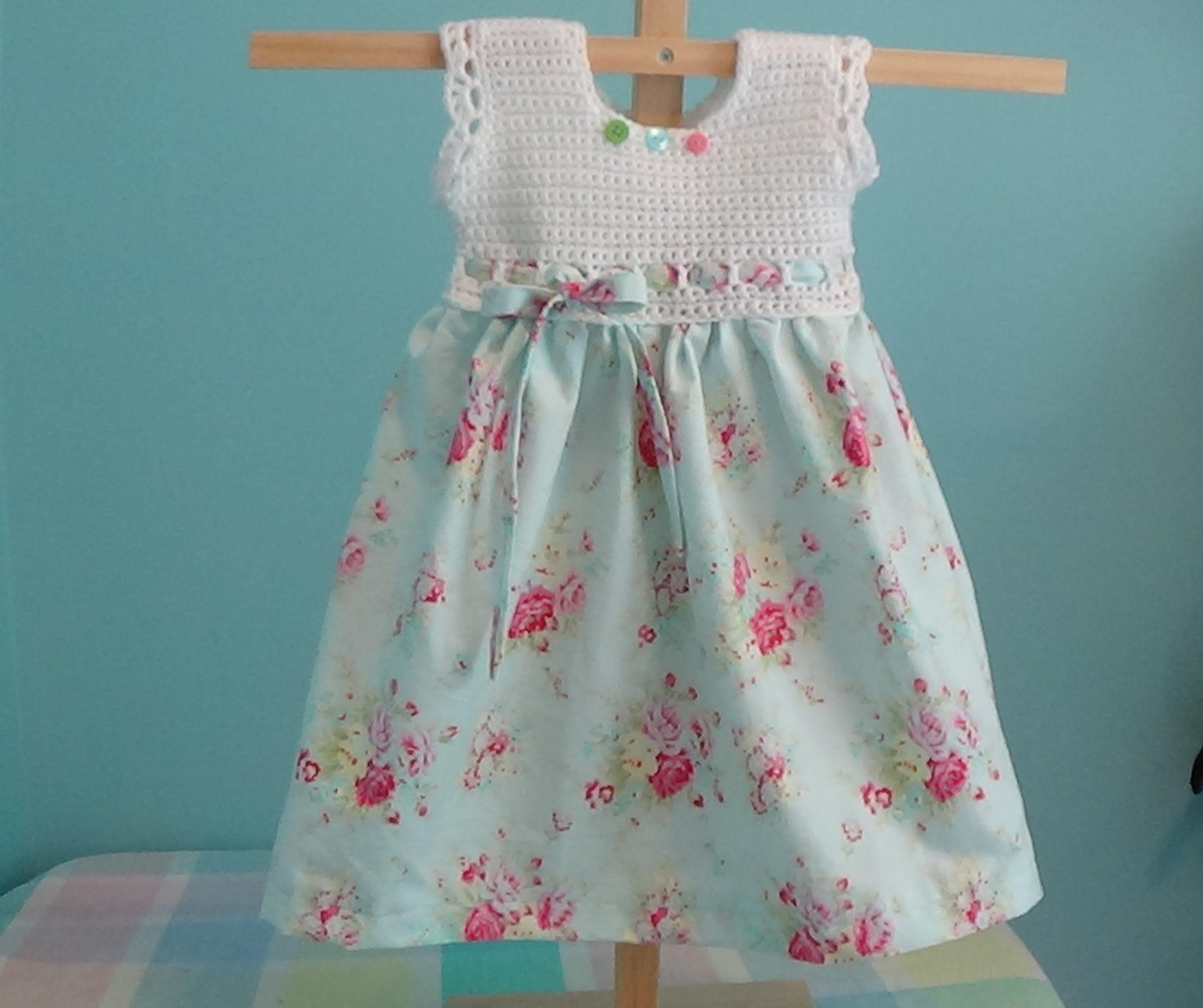 10+ Free Crochet and Fabric Dress Patterns | Kind mode, Häckeln und ...