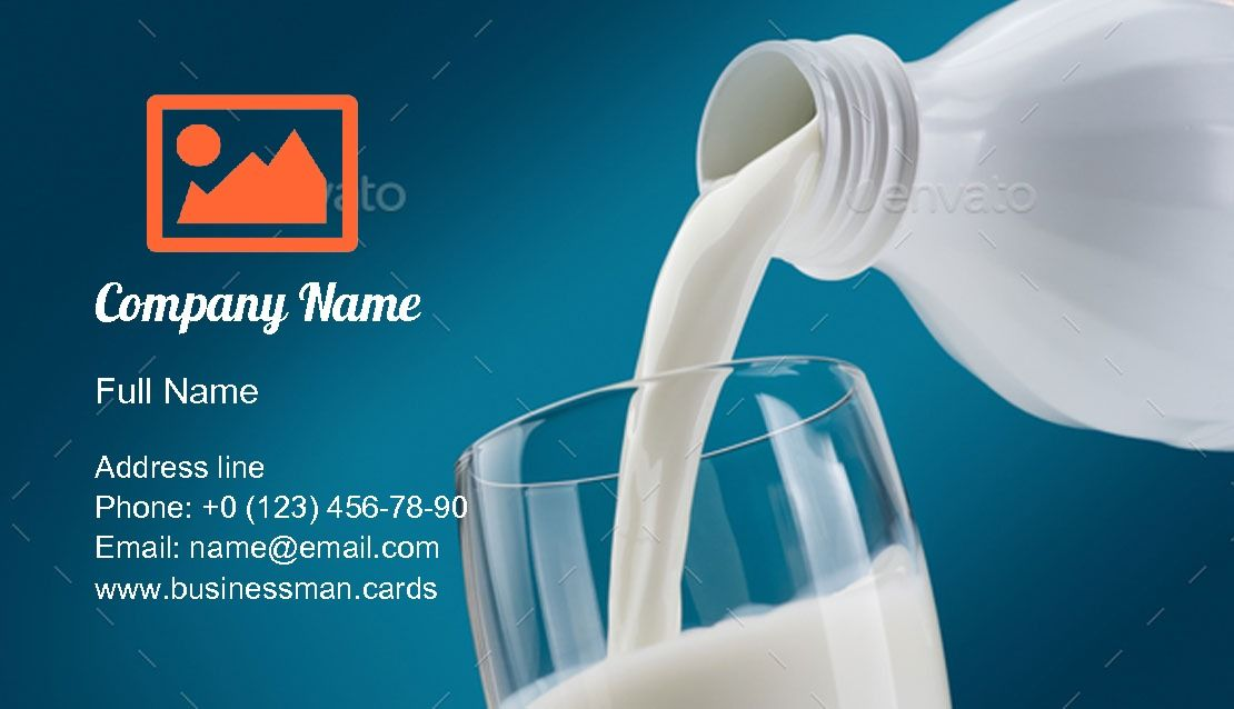Pouring Fresh Milk Business Card Template Business Card Template Download Business Card Visiting Card Design