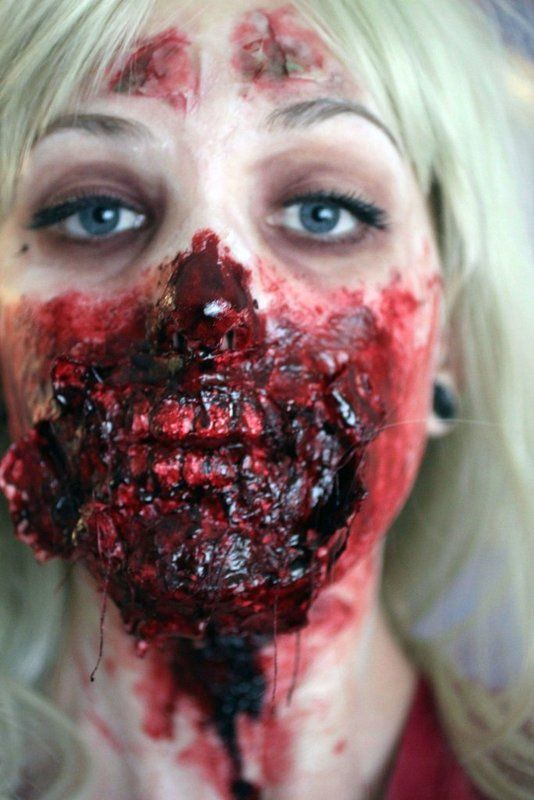 maquillage zombie effrayant