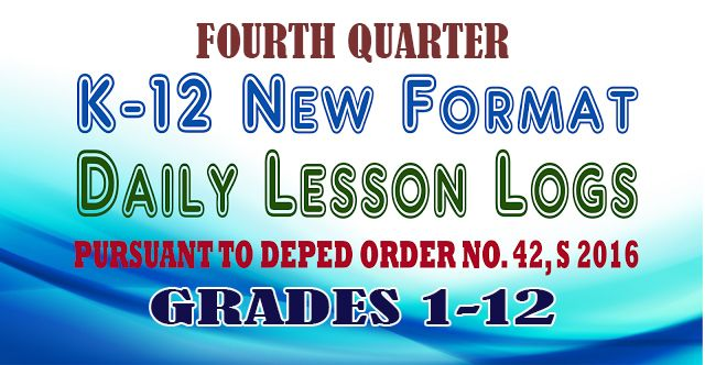 4th Quarter K-12 DLL, TG and LM for Grades 1-12 [Direct