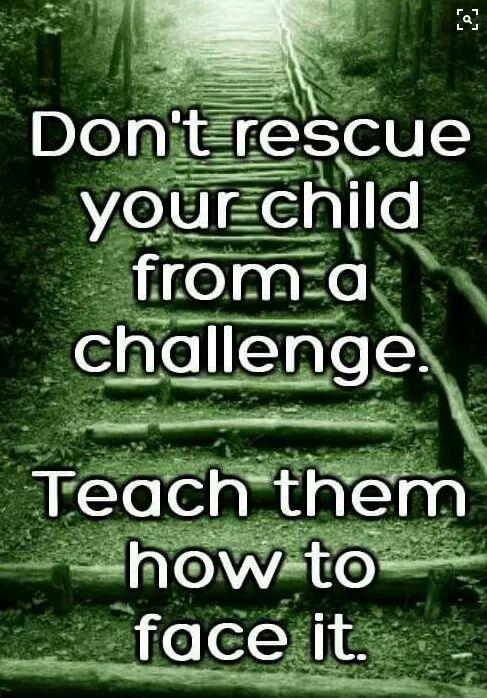 Don't Rescue. .....