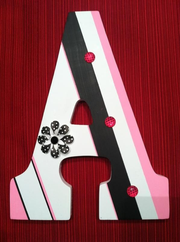 Painted Wooden Letter A