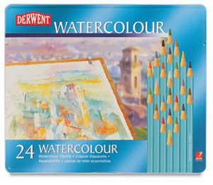 Derwent Watercolour Pencil Tin Sets Watercolor Pencils
